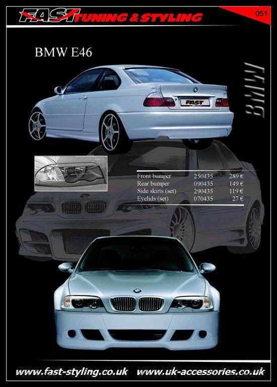 UK Accessories Ltd. BMW E46 Body Kit White