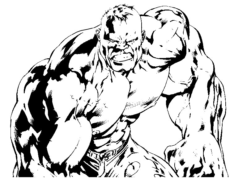 Dibujo Para Colorear Hulk 8