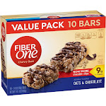 Fiber One Oats & Chocolate Chewy Bars - 10ct