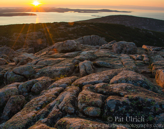 Sunrise over the Schoodic Peninsula in Acadia National Park