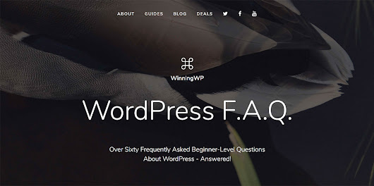 New: WordPress FAQ - Over Sixty Beginner-Level Questions Answered!