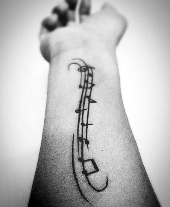 40 Simple Music Tattoos For Men Musical Ink Design Ideas