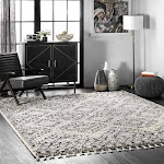 Rugs USA Off White 4' x 6' Tribal Moroccan Tassel Rug Temara Transitional Rectangle | 200GCDI02A-406