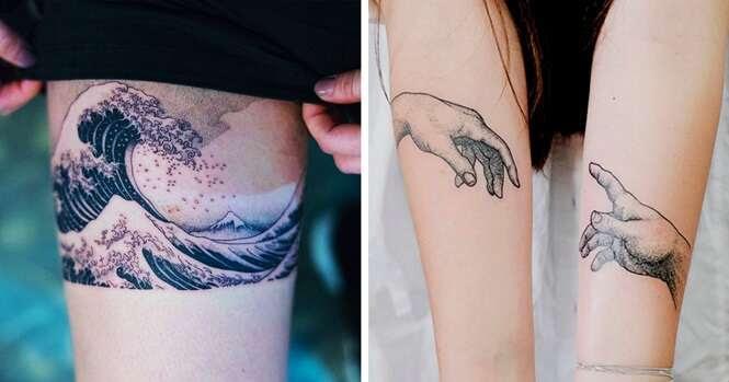 Tatuagens inspiradas em arte que você vai ficar com vontade de fazer