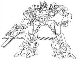 Dibujos Para Colorear Robot Transformers Imagesacolorier