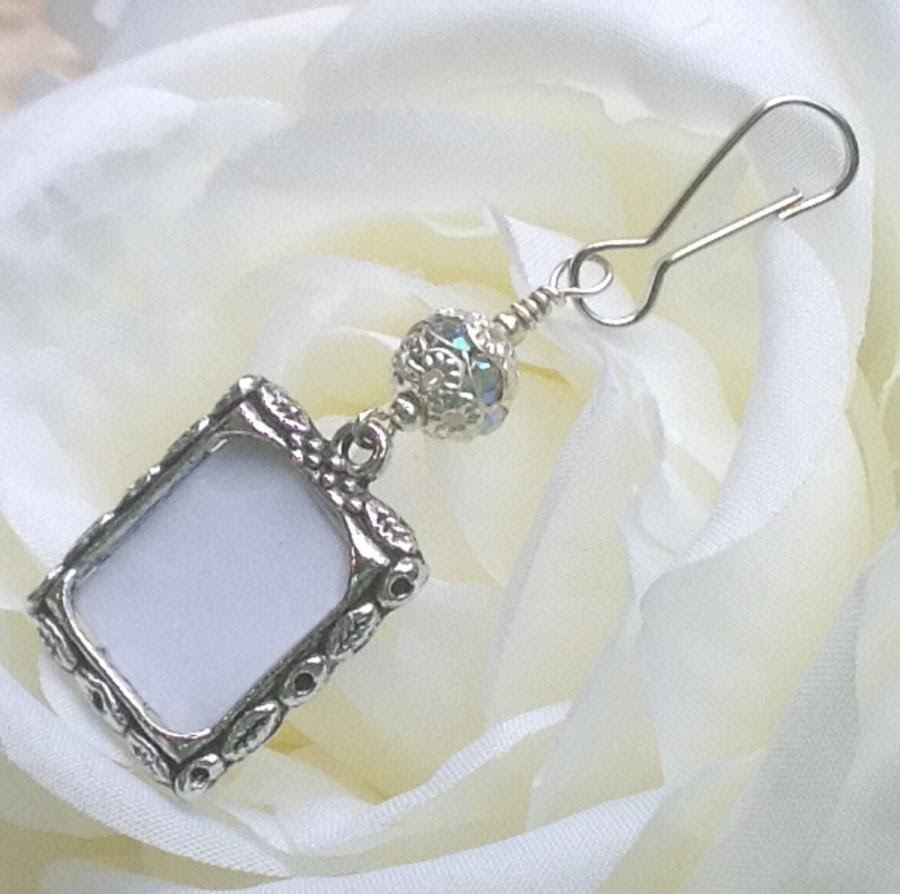Wedding Bouquet Photo Charm Sparkly Bridal Bouquet Charm Gift For