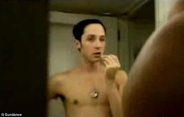 Nasty divorce: Weir, pictured naked on his show Be Good Johnny Weir, was accused by Vornonov of sending  nude photos and steamy messages to men online, and his husband also has nude images of him
