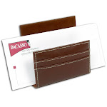 Dacasso A3208 Rustic Leather Letter Holder