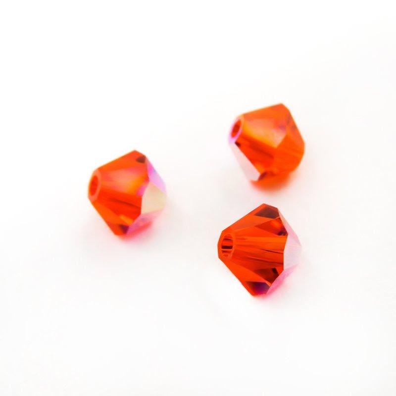 27753011415236 Swarovski Bead - 4 mm Faceted Bicone (5301) - Hyacinth AB (36)