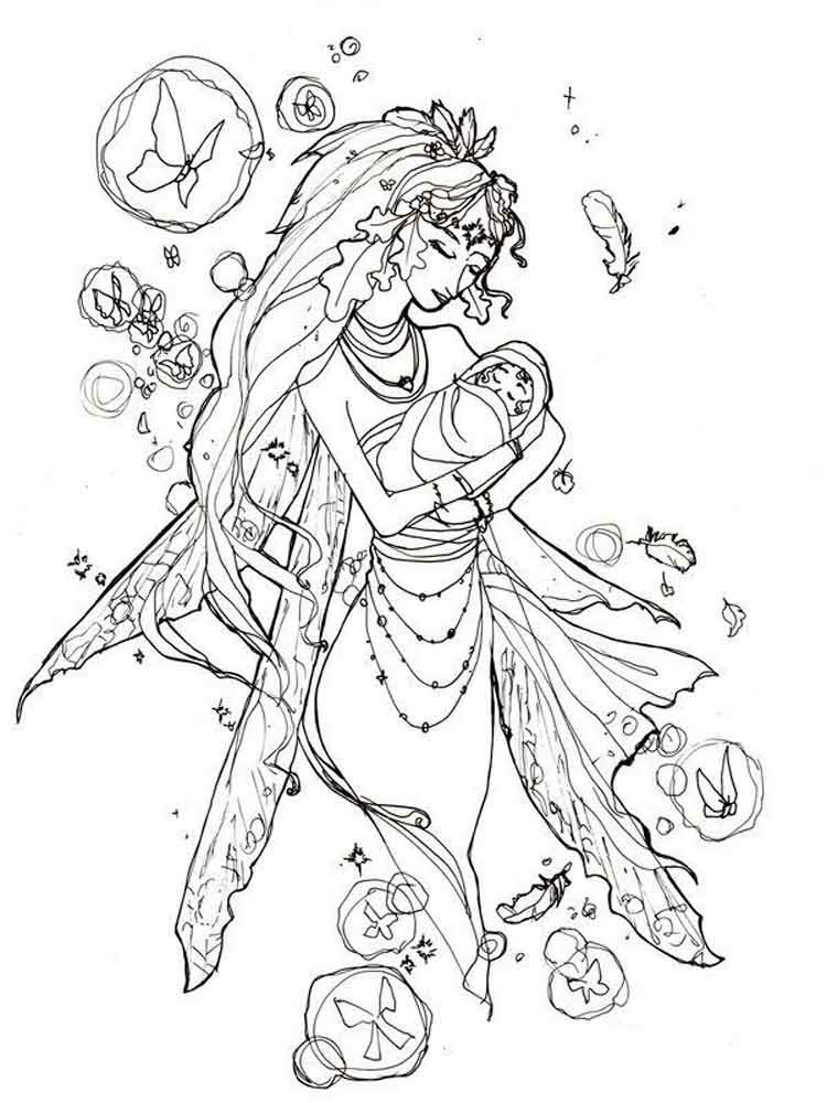 Fairy coloring pages for adults. Free Printable Fairy ...