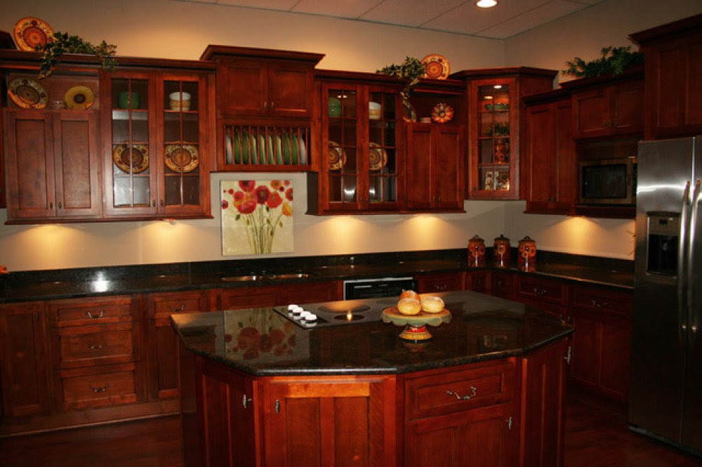 Kitchen Cherry Kitchen Cabinets Black Granite Imposing On Regarding Improbable Countertops Dark Color Wood 27 Cherry Kitchen Cabinets Black Granite Exquisite On With Regard To Red Paint Colors 19 Cherry Kitchen Cabinets