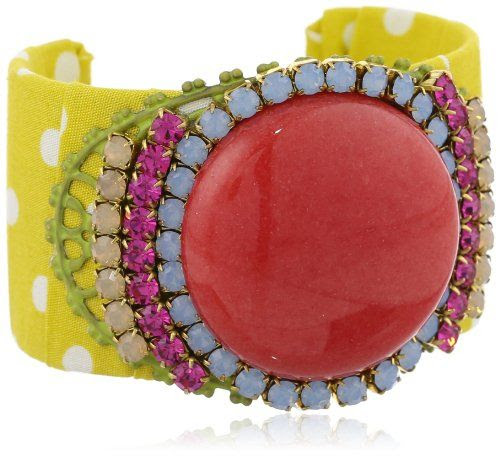 FUNKY CUFF BRACELET: (goes with the lime shoes and hip bag) Lenora Dame Lime Sangria Cuff Bracelet: Jewelry