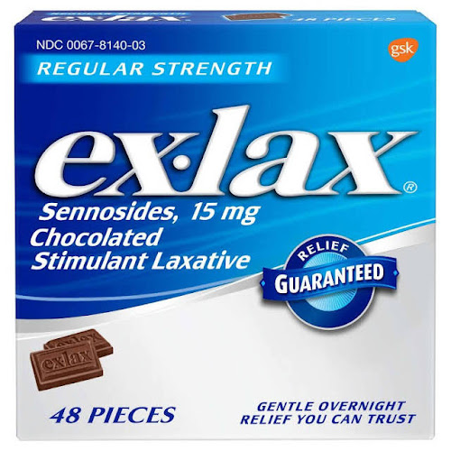 Ex-Lax Stimulant Laxative, Regular Strength, Chocolate - 48 count