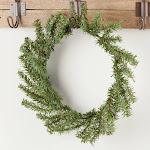 Artificial Pine Wreath, 10'' diameter x 7 1/4'' diameter, Green, Craft Supplies