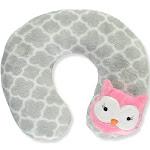 Cribmates Baby Girls' Sleepy Owl Neck Pillow - Gray, One Size