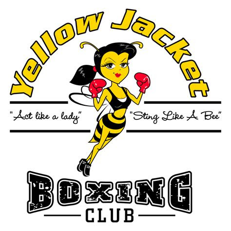 yellow jacket boxing clubs  logo design love