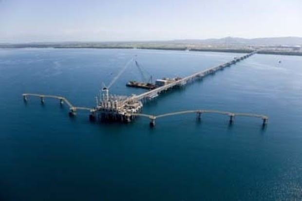 Gas boom: the PNG LNG landing site near Port Moresby.