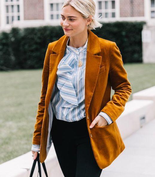 Le Fashion Blog 9 Velvet Blazers To Buy This Season Via Who What Wear