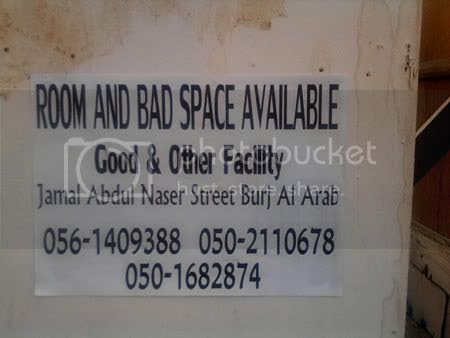 Bad Space Available, Call Now!