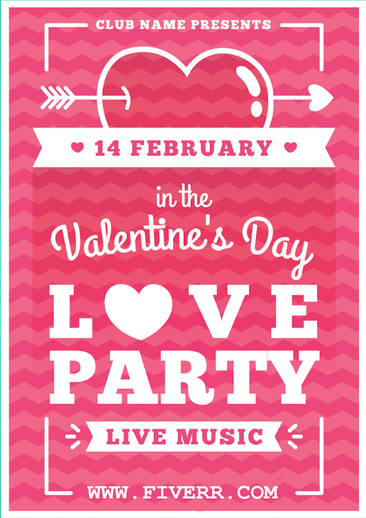 I will create awesome FLYER for your valentines day in 10 hours