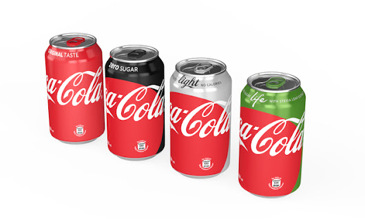 Coca-Cola reveals new look for cans and bottles with One Brand design