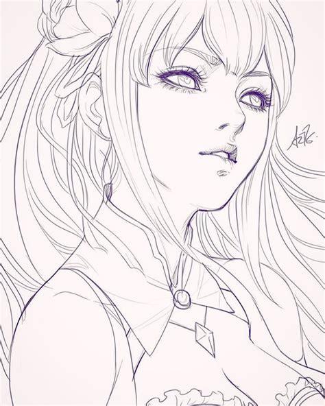 anime sketch ideas  pinterest manga girl