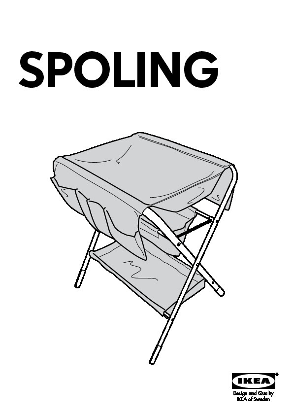 Spoling Table à Langer Noir Blanc Ikea France Ikeapedia
