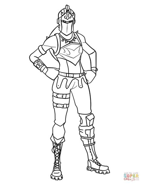 fortnite red knight coloring page  printable