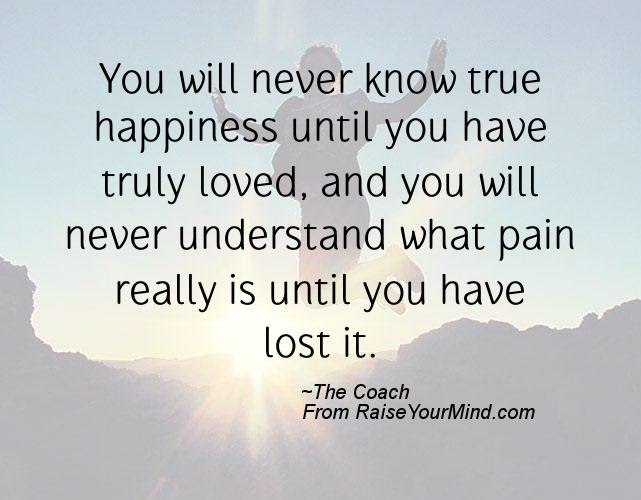 Happiness Quotes You Will Never Know True Happiness Until You Have