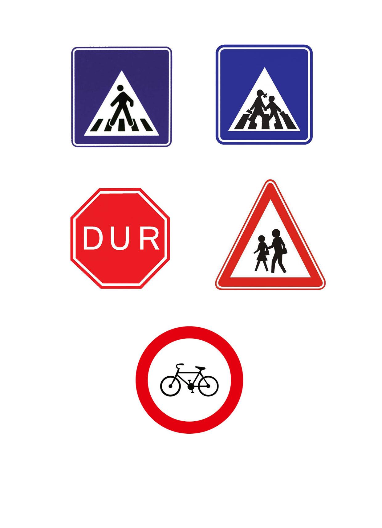 Trafik Işaretleri Adeland Renkler Dünyası Projedenizi