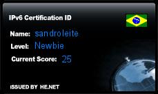 IPv6 Certification Badge for sandroleite