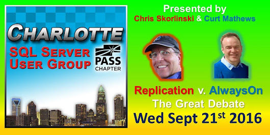 Charlotte SQL Server User Group - Wed September 21st - Meeting Invitation and RSVP