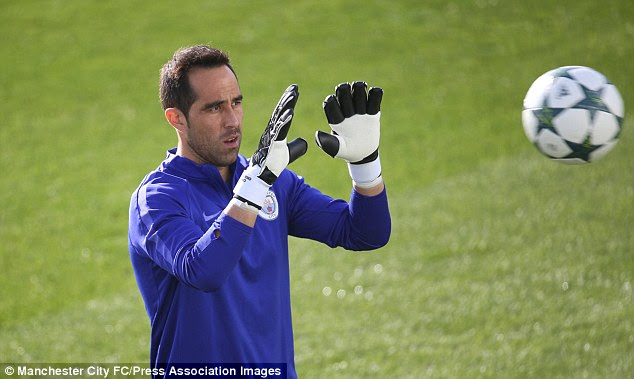 Claudio Bravo will face his former club on Wednesday after leaving Barca for City this summer