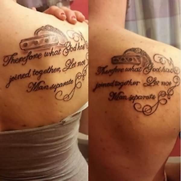 Right Back Shoulder Mother Tattoo