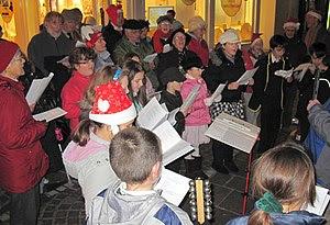 Christmas carol singing in Jèrriais