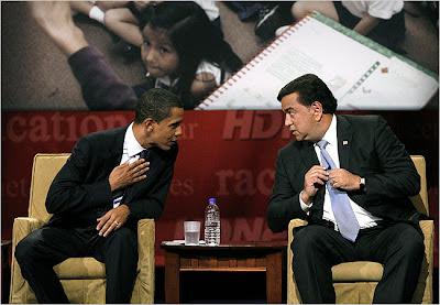 Barack Obama and Bill Richardson