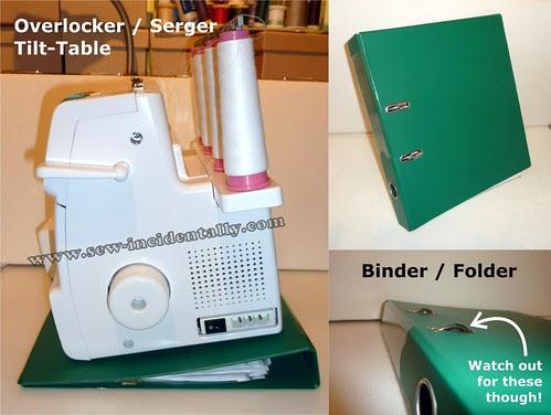 03, Binder or Folder - Serger, Overlocker Tilt Table