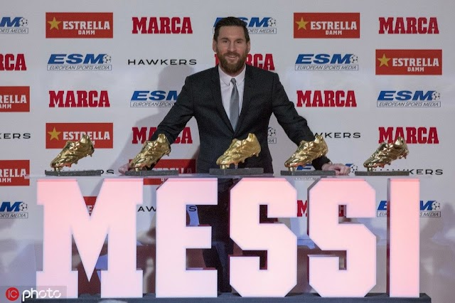 Messi Will Be Receiving His Sixth European Golden Shoe On October 16