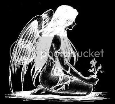 sad angel tattoo. cant wait. i love tattoos.