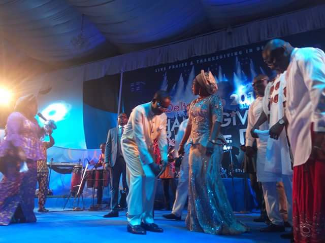 Governor Okowa Dancing At Celebration Of His 2nd Year In Office
