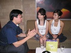 Me Interviewing Samantha Tan and Ezann Lee