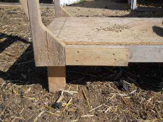 Goat Milking Stand Bracing Block