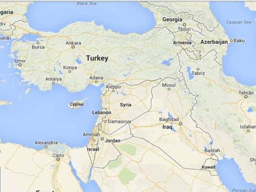 Theater of Syrian operations (Google map)