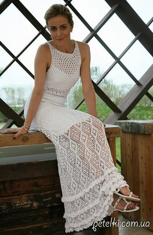 Vestido de Erica Giovana Dias.  Esquemas de ganchillo
