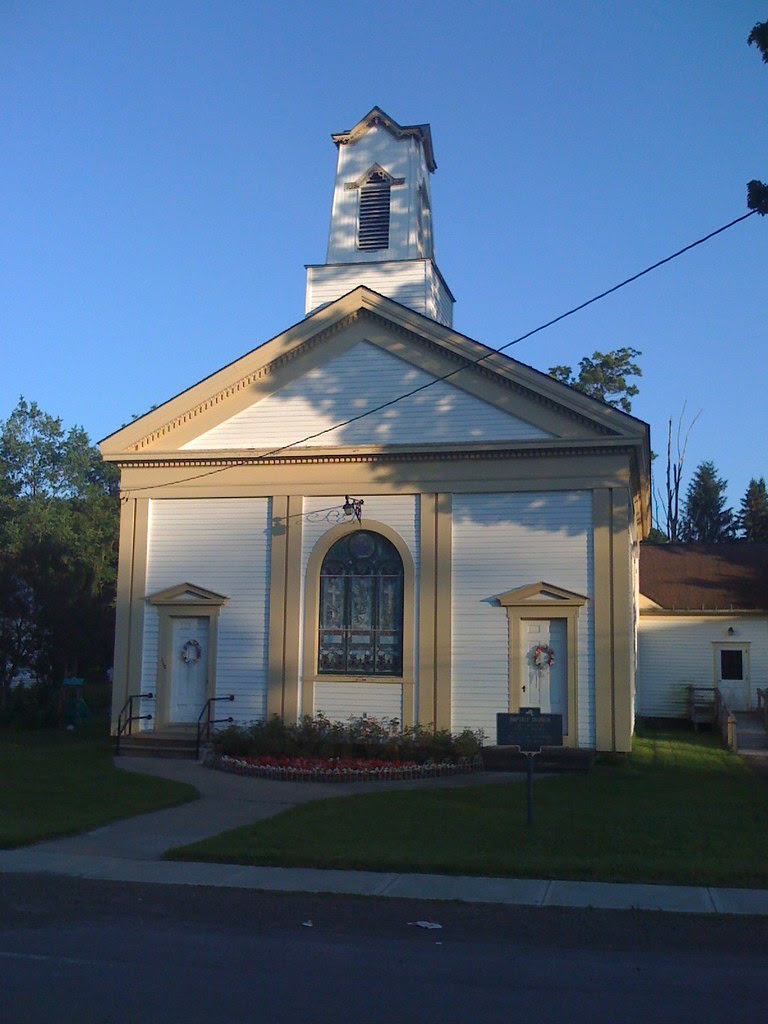 New York Historical Marker - Baptist Church