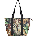 Zodaca Fashion Large Insulated Zip Top Lunch Bag Women Tote Cooler Picnic Travel Food Box Carry Bags - Natural Camoflague