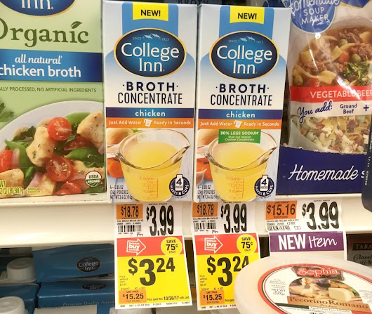 College Inn Broth, Stocks, and Concentrate as Low as $0.12 at Stop & Shop, Giant, and Martin {12/01}