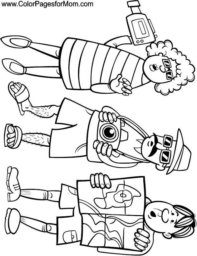 Vacation Coloring Page 31