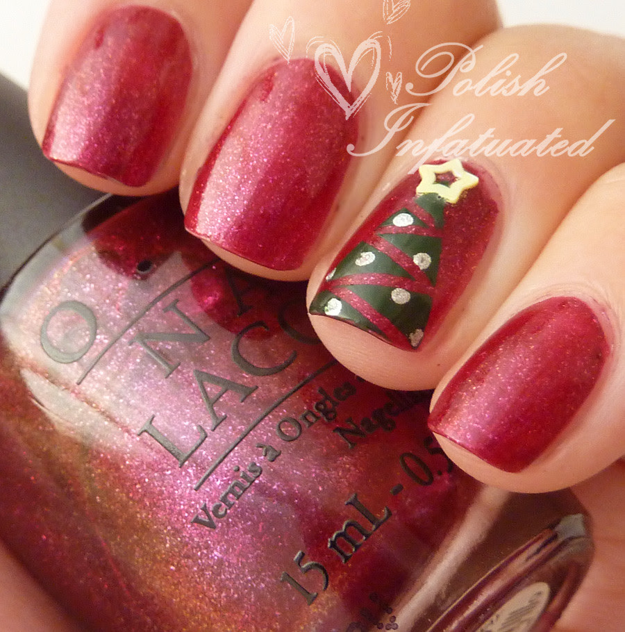 festive christmas tree nails3