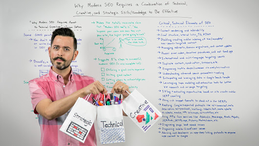 Why Effective, Modern SEO Requires Technical, Creative, and Strategic Thinking - Whiteboard Friday